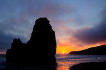 Last light at Rodeo Beach. Marin County, California. - Photo #26899