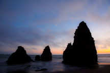Moon over Rodeo Beach. Marin County, California. - Photo #26901