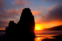 Sunset at Rodeo Beach. Marin County, California. - Photo #26891
