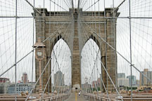 Brooklyn Bridge and suspension cables. New York City, New York, USA. - Photo #13228