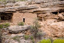 Cliff dwelling made with limestone rocks. Montezuma Well, Arizona. - Photo #17728