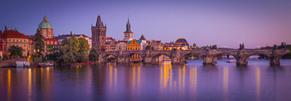 Panorama of the Charles Bridge. Prague, Czech Republic. - Photo #29928