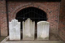 Three headstones at Westminster Hall Cemetery, Baltimore, Maryland, USA. - Photo #3928