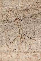 Anthropomorphic petroglyph. Petroglyph Point, California. - Photo #27239