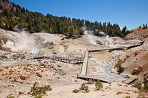 Boardwalk at Bumpass Hell. Lassen NP, California. - Photo #27088