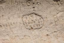 Circle petroglyph. Petroglyph Point, California. - Photo #27218