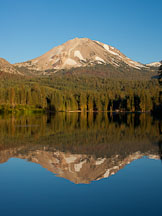 Mt Lassen and Lake Manzanita. Lassen NP, California. - Photo #27027