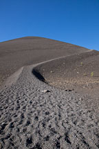 Trail of loose scoria running up the Cinder Cone volcano. Lassen NP, California. - Photo #27200
