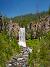 Tumalo Falls. Bend, Oregon. - Photo #27587
