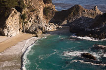 McWay Cove Waterfall. Big Sur, California, USA. - Photo #17029