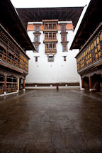 Central tower in Rinpung Dzong. Paro, Bhutan. - Photo #24029