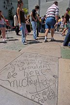 Mickey Rooney's hand and footprints. Grauman's Chinese Theater, Hollywood, California, USA. - Photo #7529
