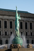 War memorial fountain (Peace memorial fountain) by Marshall Fredericks (1908-1998). Cleveland, Ohio, USA - Photo #4229