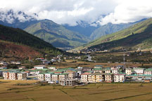 Town of Paro, Bhutan. - Photo #24329