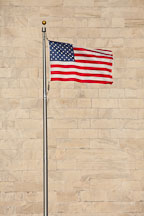American flag in front of the Washington Monument. - Photo #28988