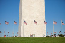 American flags surrounding the Washington Monument. Washington, D.C. - Photo #28983