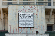 United States penitentiary sign. Alcatraz Island. - Photo #28886
