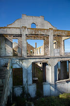 Remains of the post exchange and officer's club building. Alcatraz Island, California. - Photo #28890