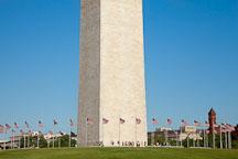 Tourists around the base of the Washington Monument. Washington, D.C. - Photo #28982