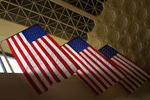 Flags at Union Station. Washington, D.C. - Photo #1874