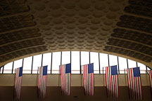 American flags at Union Station, Washington, D.C. - Photo #1873