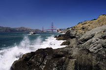 Baker beach and Golden Gate Bridge. San Francisco, California. - Photo #1207