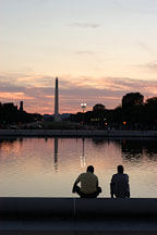 Washington Monument and the Capitol reflecting pool. Washington, D.C. - Photo #1836