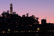 Coit Tower at twilight. San Francisco, California. - Photo #1998