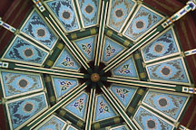 Ceiling of the Taiwan pavilion. Golden Gate Park, San Francisco, California, USA. - Photo #1189