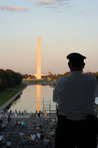 Park ranger and Washington Monument. Washington, D.C. - Photo #1825