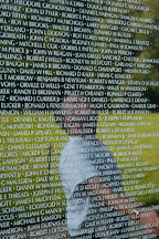 Reflection of a man on the Vietnam Veteran's Memorial Wall. Washington, D.C. - Photo #1809