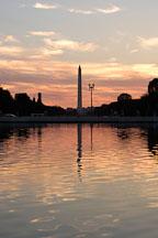 Reflection of the Washington Monument in the Capitol reflecting pool at sunset. Washington, D.C. - Photo #1846