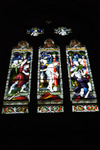 Stained glass at St. Mary's Cathedral. Sydney, Australia. - Photo #1719