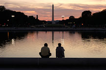 Washington Monument and the Capitol reflecting pool. Washington, D.C. - Photo #1837