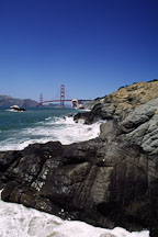 Baker beach and Golden Gate Bridge. San Francisco, California. - Photo #1203