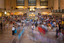 Crowds moving through Grand Central Station. New York City, New York, USA. - Photo #13003
