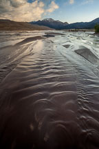 Rippling waves in Medano Creek. Great Sand Dunes NP, Colorado. - Photo #33203