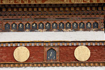 Detailed artwork on the main chorten. Dochu La, Bhutan. - Photo #23203