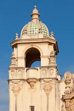 Tower and dome of Casa del Prado. Balboa Park, San Diego. - Photo #26003