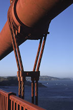 Close-up of the suspension cables on the Golden Gate Bridge. San Francisco, California. - Photo #30