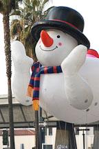 Snowman float. San Jose Holiday Parade. San Jose, California, USA. - Photo #5130