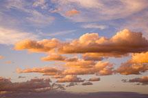 Orange glow on clouds from sunset. Grand Canyon NP, Arizona. - Photo #17330