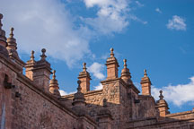 Pinnacle with finial, cathedral of Cusco. Plaza de Armas, Cusco, Peru. - Photo #9230