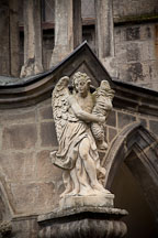 Statue of angel at the Cathedral of the Assumption of the Virgin Mary. Sedlec, Czech Republic. - Photo #29753