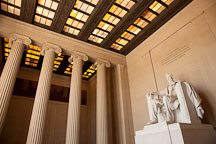 Central hall of the Lincoln Memorial. Washington, D.C. - Photo #29084