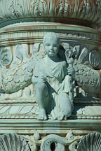 Cherub with feather quill and scepter. Supreme Court flag pole, Washington, D.C. - Photo #29165