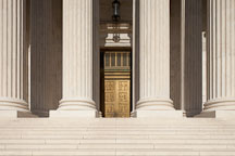 Entrance to the US Supreme Court. Washington, D.C. - Photo #29204