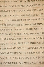 Excerpt from the Declaration of Independence. Jefferson Memorial, Washington, D.C. - Photo #29110