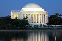 Jefferson Memorial at night. Washington, D.C. - Photo #29259