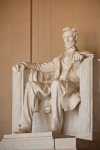 Lincoln sitting in contemplation. Lincoln Memorial, Washington, D.C. - Photo #29073